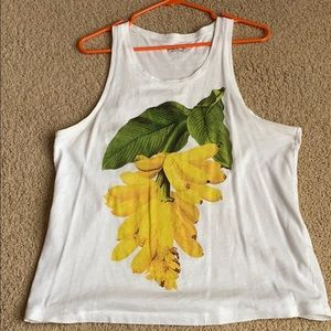 White plantain tank top